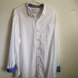 Tommy Bahama Jeans XL White Blue L/S Button Shirt